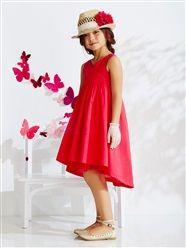 Robe de cérémonie fille sans manches et macramé  - vertbaudet enfant