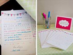 Baby Shower Game: Mad Libs