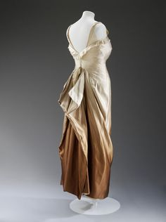 Evening dress of ombre satin, 1950's.