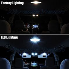JK Jeep Wrangler White Interior LED Light Kit Package with Installation Tool