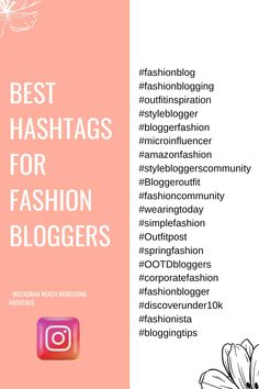 Time for Hashtags that can help you grow as a fashion Blogger. These are Researched and active Hashtags that you can use to get more engagement on Instagram. #instagram #instagramhashtags #marketing #hashtags Instagram Hashtags For Likes, Like Instagram, Instagram Life, Instagram Story, 10k Instagram Followers, Corporate Fashion, How To Get Followers, Marketing, Engagement