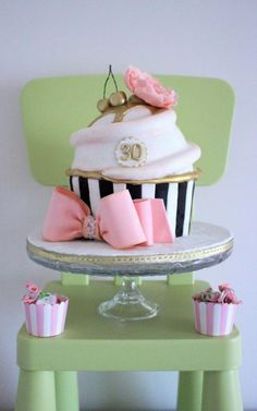 Giant cupcake cake for a lovely lady. Inspired by Dee's Sweet Creations' cake.