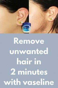 #Hair #Minutes #Remove #Unwanted #UnwantedFacialHairRemoval #Vaseline Remove Unwanted Hair In 2 Minutes With Vaseline #UnwantedFacialHairRemoval #PermanentHairRemoval #BestWayToRemoveUnwantedHair #CreamForUnwantedHairRemoval #NaturalUnwantedHairRemoval #HairRemovalMethods Permanent Facial Hair Removal, Chin Hair Removal, Upper Lip Hair Removal, Underarm Hair Removal, Electrolysis Hair Removal, Remove Unwanted Facial Hair, Hair Removal Diy, Hair Removal Methods, Unwanted Hair