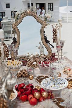 Santorini Iranian Wedding Ceremony @ Aenaon Villas Imerovigli Santorini