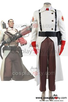 Team-Fortress-2-Medic-Cosplay-Costume: $113.59 Reduced Price: $102.23