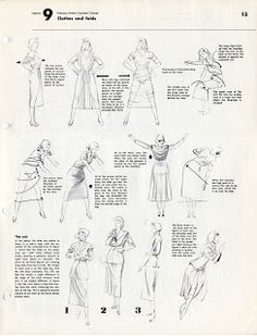 Character and Creature Design Notes: Famous Artist's Cartoon Course: Lesson 9: Clothes and Folds