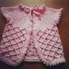 Diário de algodão : Receita de tricô traduzida : Sweater Baby Cherry Blossom