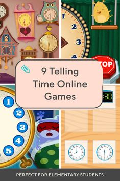 Make telling time a breeze with these fun games! Your child will gain experience reading clocks and telling time to the hour, half hour, and minute. Telling Time Online Games, Telling Time Activities, Preschool Activities, Educational Math Games, Interactive Learning, Learning Games, Free Math Games, Fun Games, Time Games For Kids