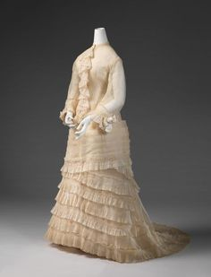 Wedding dress, 1878. From the National Gallery of Victoria.
