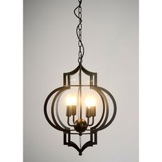 Shop for Addison 4-light Black-finished 17-inch Chandelier with Bulbs. Get free shipping at Overstock.com - Your…