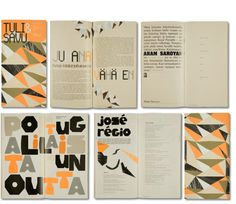 Book layout orange and black