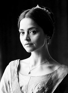 Edit of Masterpiece's iconic of Jenna Coleman as Victoria.
