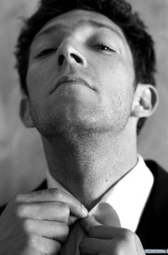 vincent cassel.  Would be a nice shot of the groom getting ready.
