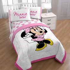 Disney Minnie Mouse Xoxo Twin Bed in a Bag - White Twin Bedroom Sets, Kids Bedroom, Bedroom Decor, Bedroom Inspo, Kids Rooms, Bedroom Ideas, Twin Sheets, Twin Sheet Sets, Bed Sheets