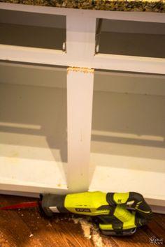 DIY Slide-Out Shelves | DIY pull-out shelf | How to make sliding shelf for kitchen cabinet | Step by step slide-out shelf tutorial | DIY cabinetry and woodworking | #DIY #kitchen #organization | TheNavagePatch.com