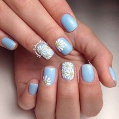 You might also like 10 Nail Art Designs Tutorial You Need to Know for Summer, 32 Amazing Nail Design Ideas for Short Nails, Beautiful and Natural, 35 Most Creative Acrylic Nail Art Designs To Fascinate Your Admirers, 30 Coolest Source by MariangelDv Orange Nail Designs, Short Nail Designs, Nail Designs Spring, Acrylic Nail Designs, Nail Art Designs, Flower Nail Designs, Pretty Nail Designs, Daisy Nails, Flower Nails