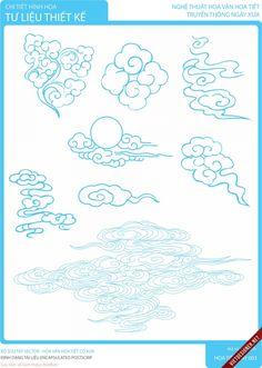 Art Sketches, Art Drawings, Cloud Tattoo, Cloud Drawing, Manga Drawing Tutorials, Beton Design, Easy Canvas Art, Clouds Pattern, Chinese Art