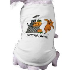 Happy Halloween!  #Doggie Tshirt #comic for #Kids, #Halloween #Fantasy pencil drawing by Krisi ArtKSZP on Zazzle
