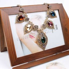 Fashion #necklace with #crystal.