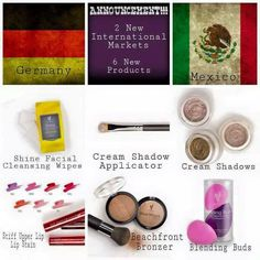 So exciting. Younique has 6 new products coming in March. Lipstains, bronzer, makeup remover cloth, cream eyeshadow, and blending buds !!!  And Germany and Mexico coming aboard!!  www.letsstaybeautiful.com