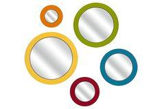 Bright Wall Mirrors, Set of 5 on OneKingsLane.com