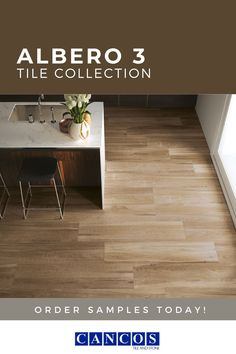 This wood-look tile is the ideal option for high traffic areas like your kitchen, living room, bathroom, even outdoor spaces! With its lighter coloring, it pairs well with basically any space and compliments several different color schemes. Like this look of this tile? Check out our website and order your sample today!