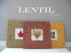 Someday Crafts: Fall Lentil Frames
