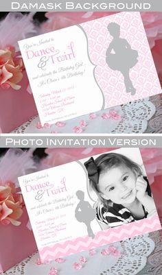 Ballet Party Invitation  Printable  by AmandasPartiesToGo on Etsy, $14.00