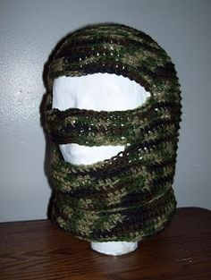 I spent the majority of today writing my own pattern and crocheting this hunting/ski mask for Homespun Creations. I found a pattern online. Mohawks, Hans Christian, Kerchief, Beards, Crochet Projects, Crocheting, Headbands, Skiing, Wigs