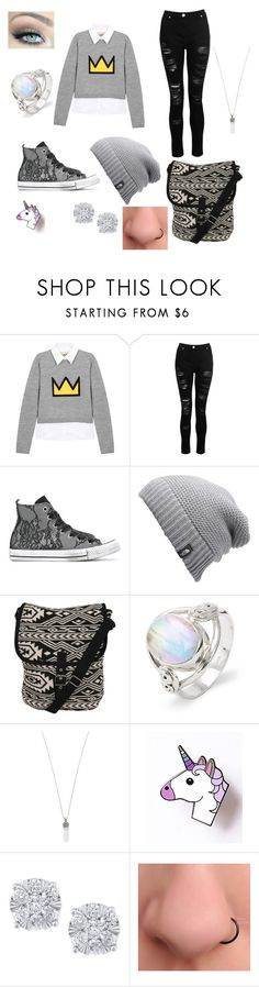"""Rotto (An OC)"" by stella-lala on Polyvore featuring Alice + Olivia, Dorothy Perkins, Converse, The North Face, Pilot, Marc Jacobs and Effy Jewelry"