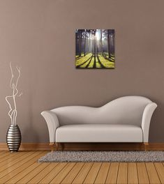 Let your gaze feast upon the Presidio Forest bathed in sunlight. $25, Elementem Photography, 16x16 inches, canvas, photography by Michelle Grenier (@MichieSharine.) California, Presidio, forest, trees, iPhone photography