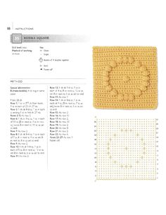 CROCHET BOBBLE SQUARE GRANNY SQUARE WITH DIAGRAM AND INSTRUCTIONS (#Page #88) #35 (English) | Pattern is English Designs, but website is just image sharing site | ~~ https://www.pinterest.com/bonniebuchanan ~~