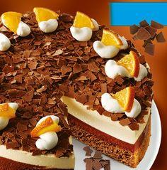 Orangen-Mousse-Torte - Eine festliche Torte mit Schokoladencreme und Orangensahne