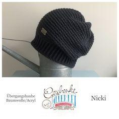 Tunella's Geschenkeallerlei präsentiert: das ist Nicki, eine geniale gehäkelte Haube/Mütze aus einer Baumwolle/Acryl-Mischung - Du kannst dich warm anziehen, dank sorgfältigem Entwurf, liebevoller Handarbeit und deinem fantastischen Geschmack wirst du umwerfend aussehen. #TunellasGeschenkeallerlei #Häkelei #drumherum #Beanie #Haube #Mütze #handgemacht #Geschenk #Nicki