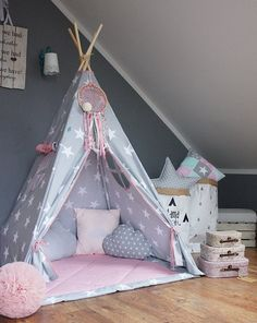 Teepee set In My Imagination / Kids /Play /Tent by MamaPotrafi