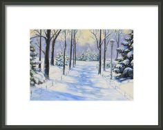 Winter In The Park Framed Print By Monika Pagenkopf