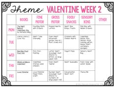 Tons of interesting Valentines themed ideas for tot school, preschool, or the kindergarten classroom.