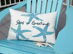 Seas 'n' Greetings Starfish Pillow