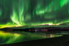 Matthew S Brown United States A beautiful night in Juneau, Alaska. The Aurora did not disappoint, beautiful display over Mendenhall Glacier
