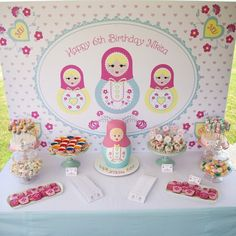 Babushka Birthday Party Styled by Party www.partyandco.com.au http://partyandcopartysupplies.blogspot.com.au/2013/03/nikitas-babushka-birthday-party.html