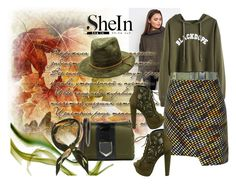 """Shein"" by vaslida ❤ liked on Polyvore featuring Parallel Lines, MSGM, Jimmy Choo and Hermès"