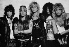 "Guns N Roses  American Hardrock band 1985  Guns N' Roses have been credited with reviving the mainstream popularity of rock music, at a time when popular music was dominated by dance music and pop metal.[18] Their late 1980s and early 1990s years have been described as the period in which they brought forth a ""hedonistic rebelliousness"" reminiscent of the early Rolling Stones,"