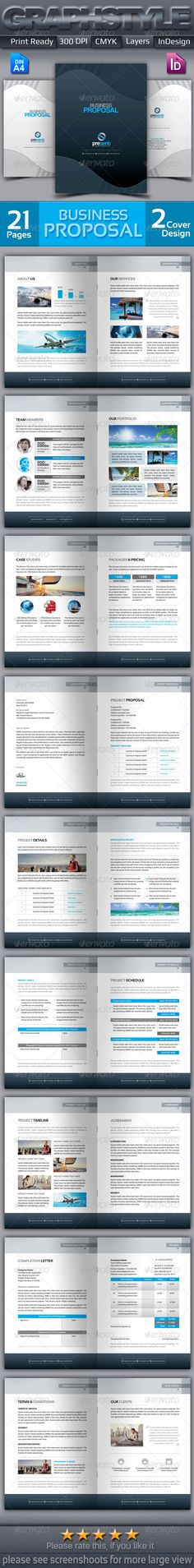 Business Proposal Template w\/ Resume \ Invoice 60+ Pages Adobe - business proposals