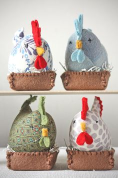 How to make French Hens. Free pattern and tutorial by Ann Wood Handmade ...