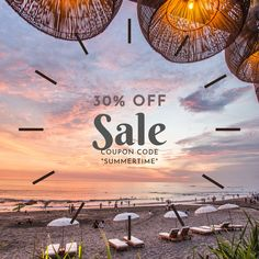 """Our Summer time Sale is ON!  30% off entire site with code """"summertime""""nn"""