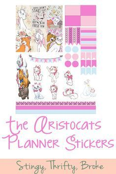 the Aristocats Free Planner Printable!