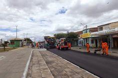 HORA DA VERDADE: ATUALIDADE: Pavimentação com asfalto começa em Ria...