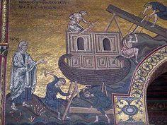 Mosaics of Noah and Noah's Ark at Monreale cathedral