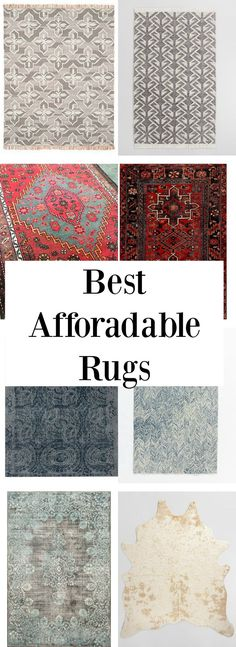 Finding rugs for each room in your home can be costly, for that reason I put together my top rug picks for each space in your home. Affordable Rugs, Affordable Furniture, Affordable Home Decor, Trendy Home Decor, Home Decor Items, Farmhouse Style Rugs, Light Fixtures Bathroom Vanity, Dining Room Buffet, Carpet Styles