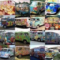 VW Buses - collage
